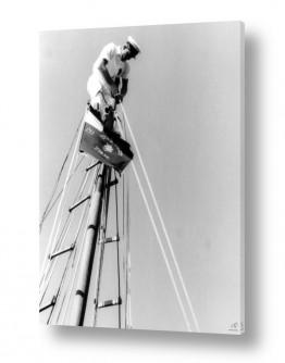 צילומים דוד לסלו סקלי | תל אביב 1939 על ראש התורן