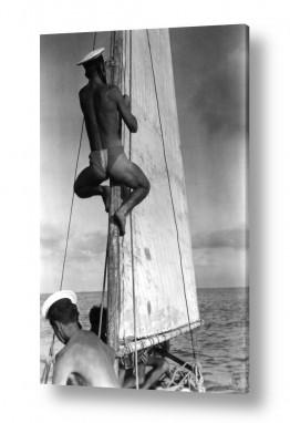 צילומים ארץ ישראל הישנה | תל אביב 1939 מטפס על תורן