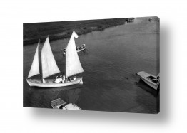 צילומים ארץ ישראל הישנה | תל אביב 1939 סירה בירקון
