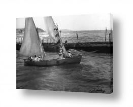 צילומים ארץ ישראל הישנה | תל אביב 1937 סירת מפרש