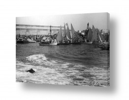 צילומים ארץ ישראל הישנה | תל אביב 1937 יום הנמל