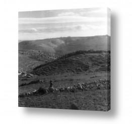 אמנים מפורסמים צילומים שנמכרו | הרי יהודה 1942 מבט מהקסטל