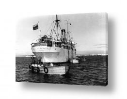 צילומים ארץ ישראל הישנה | תל אביב 1937 סירות מטען