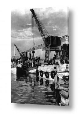 פירות הדר תפוז | תל אביב 1937 מנוף וסירות