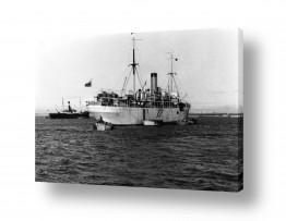 כלי שייט אוניה   תל אביב 1937 אוניה וסירות