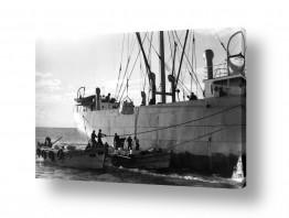 צילומים ארץ ישראל הישנה | תל אביב 1937 הטענת אוניה