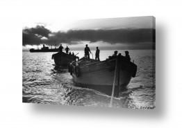 כלי שייט אוניה | תל אביב 1937 שקיעה בנמל