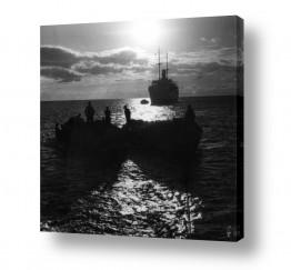 צילומים ארץ ישראל הישנה | תל אביב 1937 שקיעה בנמל