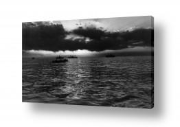 כלי שייט אוניה   תל אביב 1937 שקיעה