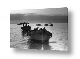 צילומים ארץ ישראל הישנה | תל אביב 1937 סירות בערב