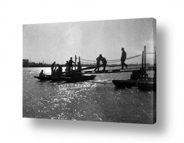 צילומים ארץ ישראל הישנה | תל אביב 1937 גשר לסירה