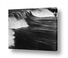 תמונות לפי נושאים ים סוער | תל אביב 1937 - סערה בנמל