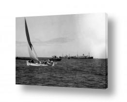 כלי שייט אוניה | תל אביב 1937 כלי שיט בנמל