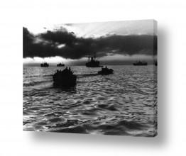 כלי שייט אוניה | תל אביב 1937 סירות בשקיעה