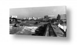 צילומים ארץ ישראל הישנה | תל אביב 1937 מסילה על מזח
