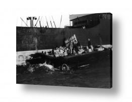 צילומים ארץ ישראל הישנה | תל אביב 1937 אסדת מטען
