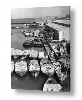 צילומים ארץ ישראל הישנה | תל אביב 1937 סירות ומטען