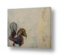 ציורים ליה מלחי | uccello errante