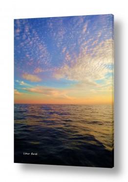 נופים וטבע מים | עננים פזורים