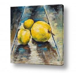 תמונות למטבח | תפוחים צהובים