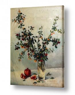 אוכל פירות | פרחים ורימונים