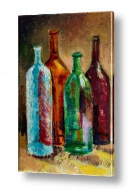 טבע דומם קנקן ובקבוקים | בקבוקים 2