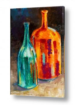 טבע דומם קנקן ובקבוקים | בקבוקים 3