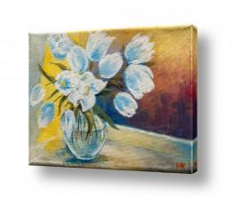 ציורים מריאנה קיידלוב | פרחים  באגרטל