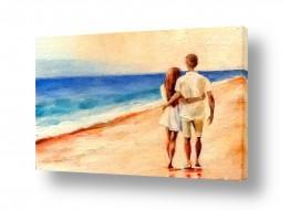 ציורים מריאנה קיידלוב | על חוף הים
