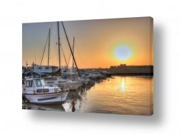 כלי שייט סירה | שקיעה בנמל יפו