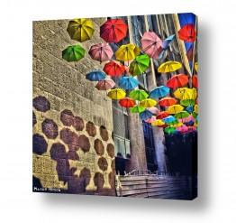 צילומים עירוני | מטריות צבעוניות