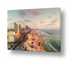 נוף שקיעה | חוף תל אביב בשקיעה