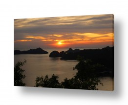 נוף מיים | שקיעה בהאלונג ביי