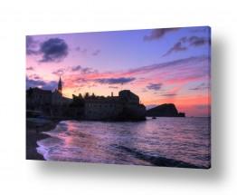 תמונות נופים נוף שמים | זריחה סגולה