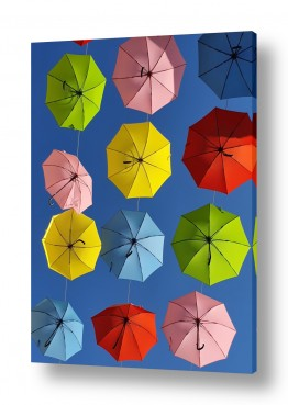 צילומים מזג-אוויר | מטריות צבעוניות בירושלים