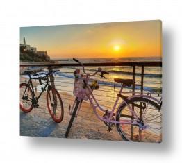 נוף חופים | שקיעה ואופניים ביפו