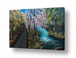 ציורים נופים וטבע | והיה כעץ שתול על פלגי מים