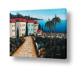 ציורים עירוני וכפרי | עיירה באיטליה