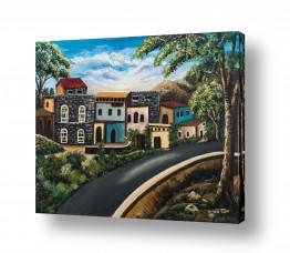 ציורים נופים וטבע | שכונה בטבריה