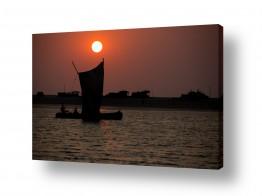 תמונות לפי נושאים דייגים | דייגים בשקיעה