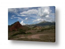 תמונות לפי נושאים קיר | נוף בקירגיזסטן