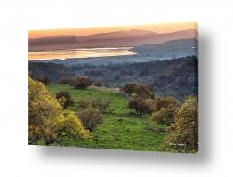 ימים ואגמים בישראל כנרת | הטבע בצבעי פסטל