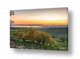 ימים ואגמים בישראל כנרת | שלכת בגולן