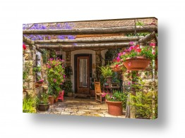 תמונות לפי נושאים ציורי | כניסה ציורית לבית