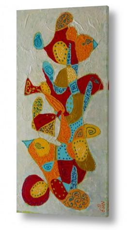 ציורים MMB Art Studio | דגים וציפורים