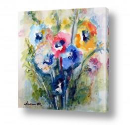 ציורים מרים קופפרשטיך | זר צבעוני