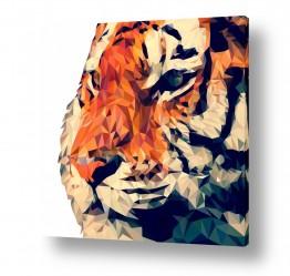ציורים בעלי חיים | נמר גיאומטרי