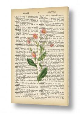 פרח ורוד רטרו על טקסט
