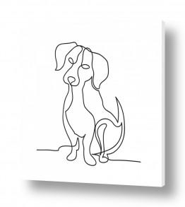 ציורים רישום | כלבלב בקו