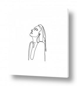 תמונות לפי נושאים אחד | דמות בקו אחד